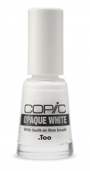 COPIC OPAQUE WHITE Flacon mit Pinsel, 6 ml