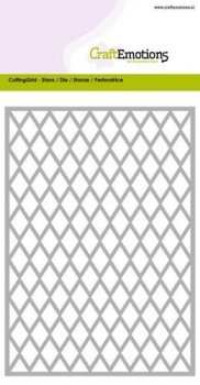 CraftEmotions - Stanzschablone - Cutting Grid - Rhombus Card