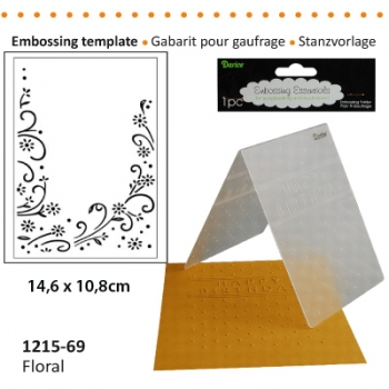 Darice - Embossing Folder Floral Scroll Side