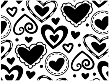 Darice - Embossing Folder Layerd Hearts