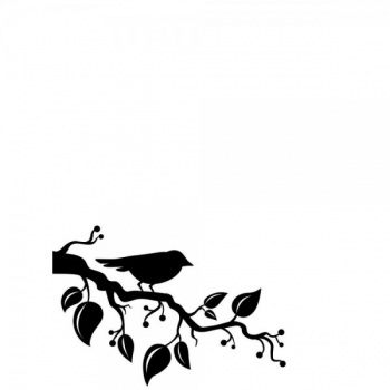 Darice - Embossing Folder Bird Branch