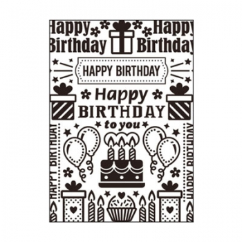 Darice - Embossing Folder Birthday Collage