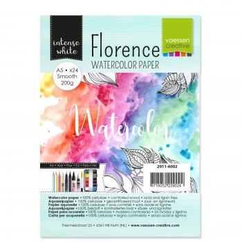 Vaessen Creative - Aquarellpapier Intense White A5 Smooth