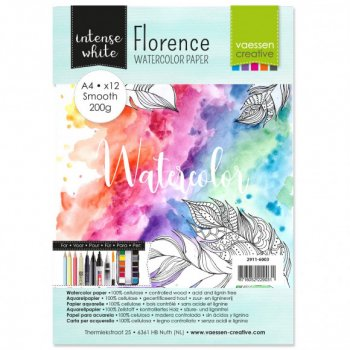 Vaessen Creative - Aquarellpapier Intense White A4