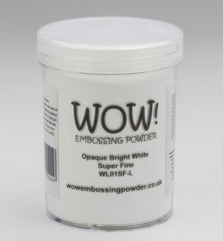 WOW Embossing Powder - Opaque Bright White Super Fine Large