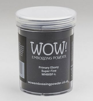 WOW Embossing Powder - Primary Ebony Super Fine Large