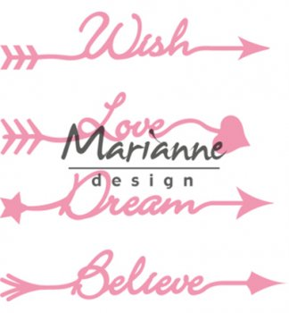 Marianne Design Collectables Arrow sentiments​