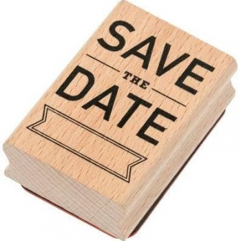 Rico-Design Holzstempel - Save the Date