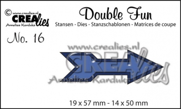 "CREAlies Stanzschablone No. 16 ""Arrow"""