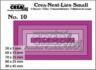 "CREAlies Stanzschablone No. 10 ""Rectangles"""