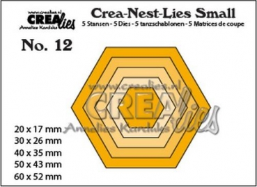 "CREAlies Stanzschablone No. 12 ""Hexagons"""