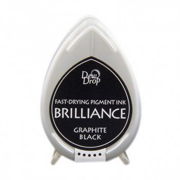 Brilliance Stempelkissen Dew Drop Graphite Black