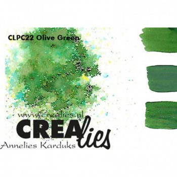 Crealies - Pigment Colorzz Olive Green