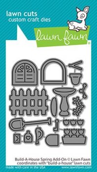 Lawn Fawn - Cuts Build a House Spring Add-On