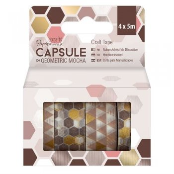 Docrafts - Capsule Geometric Mocha Craft Tape
