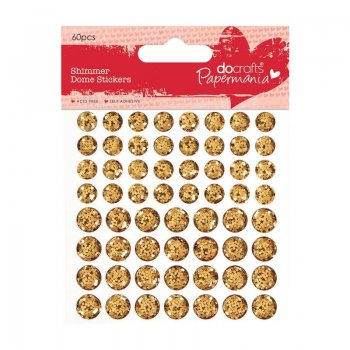 Papermania - Selbstklebende Shimmer Dome Steine (Gold)