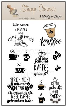 Stamp Corner - Stempel Set - Kaffee 3