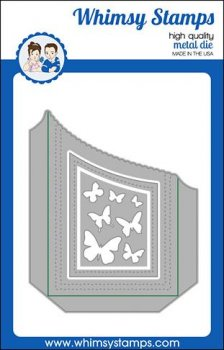 Whimsy Stamps - Slimline Scallop Edge Pocket Die