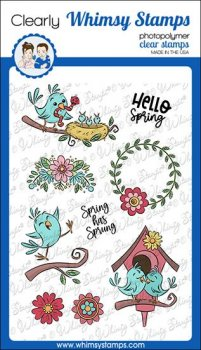Whimsy Stamps - Spring Birds