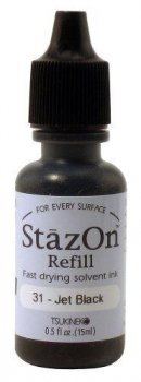 StazOn - Refill - Jet Black
