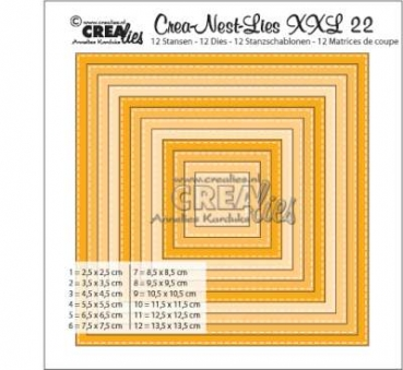 CREAlies Stanzschablonen XXL Double Stitch Quadrat No.22
