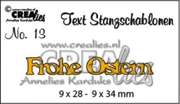 "CREAlies Stanzschablone "" Frohe Ostern """