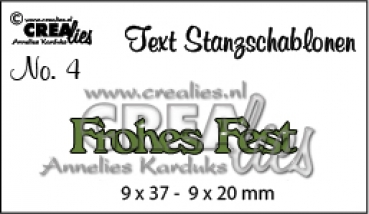 "CREAlies Stanzschablone ""Frohes Fest"""