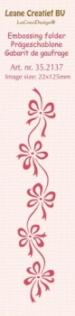 Leane Creatief BV - Embossing Folder Border Bows
