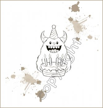 Stamp Corner - Motiv Stempel - Monster