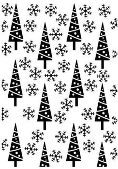 Nellie´s Choice Embossingfolder - Pine-trees & Snowflakes
