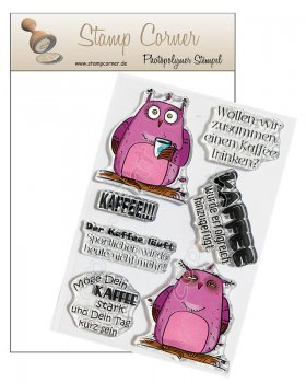 Stamp Corner - Stempel Set - Kaffee