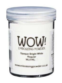 WOW Embossing Powder - Opaque Bright White Regular Large
