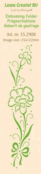 Leane Creatief BV - Embossing Folder Border Carnation